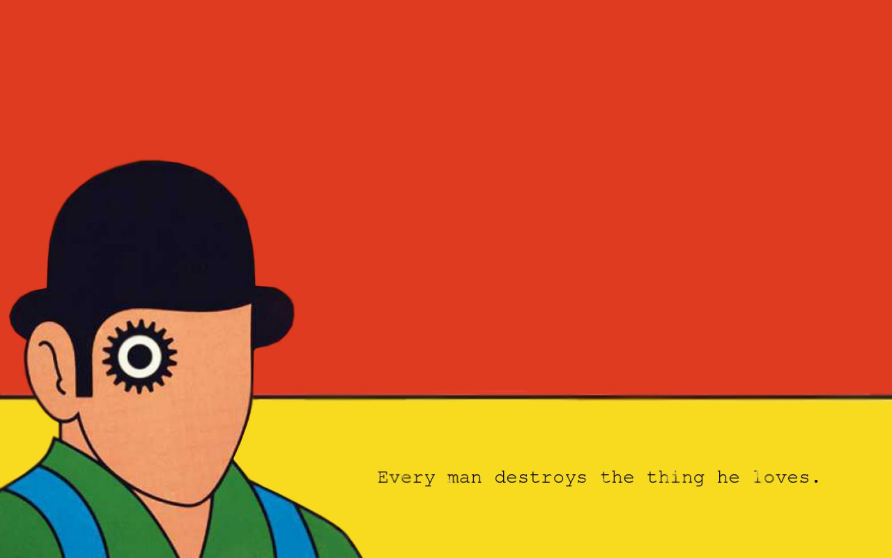 10 Book Wallpapers Of The Greatest Books - WhytoRead Books A Clockwork Orange Wallpaper